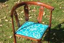 Upholstery Course / Beginners courses in modern and traditional upholstery given at Huntlands Farm Bed & Breakfast.