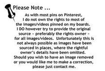 ** Disclaimer ** / If you find any image on any of my boards that belong to you and wish that I remove them, please leave me a comment on the pin and I will do so :D
