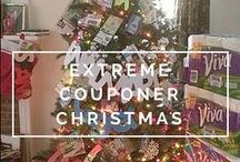 Extreme Coupon Christmas Tree / First ever Extreme Coupon Christmas Tree ~ created by the blog owner at Simple Savings For ATL Moms! Tree contains only items that were either FREE  or really cheap. It is filled with money, Target Gift Cards, Coupons, etc.
