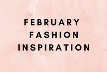 February Outfit Inspiration / A board devoted to February fashion aspiration. Pink, reds, and polkadots are in this month as we move toward Valentine's Day and early spring. Work outfits and causal outfits.