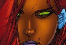 Starfire, Nightwing, Nightstar, Zatanna, Constantine, Damian Wayne & the Birds of Prey / Starfire, Nightwing, Nightstar, Zatanna, Constantine, Damian Wayne & the Birds of Prey