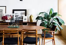 Dining / Dining room furniture, decor, and layout ideas. Modern, mid-century modern, happy modern, contemporary, natural, wooden styles.