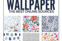 Wall Art / Inspirational wall finds for the home. Abstract, watercolor, geometric, colorful wall art, wallpaper, and tapestries.