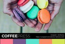Paleta de Cores :: CoffeePress #colorthursday / Sugestões de paletas de cores para o seu website.  #instacolor #colorpalette #colorthursday #dicasdecores  #paletadecores #coffeepress4anos #coffeepress #colorpin
