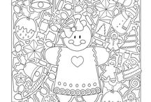 pages to color free from Tír na Nollag / Free coloring pages from my Xmas coloring book Tír na Nollag