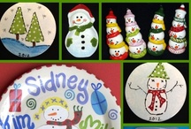 Tis the Season to Paint / From Christmas pottery to seasonal painting ideas. Find all sorts of ways to paint yourself some holiday cheer!