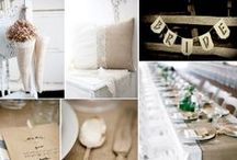 Burlap and Lace / Unlike much Burlap on the market, our Burlap is high end quality. It is a tight woven with finished hem or fringe. Burlap will transform any event, wedding or setting into rustic and chic. Very popular for special events and home decor. Lace offers a classic and timeless feel to a vintage-inspired wedding, or tea party.