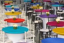 Spandex Table Linens / Spandex Contour table covers and Spandex table toppers, Spandex caps, all from Premier Table Linens