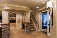 basement remodeling ideas / laundry room, craft room, and man cave decore / by Brittany Hendricks