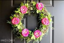 Wreath Obsession / I admit it, i am pretty much in love w wreathes. / by Allison Burke