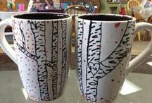 Crafty Coffee Mugs / Who doesn't love personalization?  Coffee mugs are great opportunities to show your spunk, sassy, creativity, and/or kiddo's prints!  Look through and be inspired by all the Coffee Mug has to offer!
