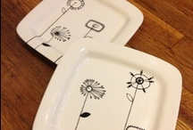 Dinner Plate Decorations! / Dinner plates don't have to be dull...take a look at how you can spruce up your dinnerware when you paint your own!