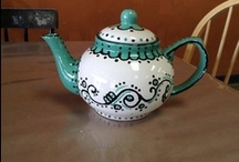 Tea Time Essentials / You can go so many ways with a teapot! Traditional, funky, solid colors and way out wacky! Take a look at some teapots that we could not resist and can't wait to duplicate!