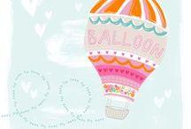 Illustration > hot air balloons