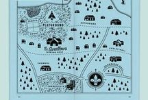 Map Design / Way finding in a beautiful way - with beautiful maps, illustrated maps, well designed maps.