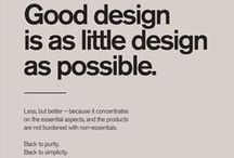 Simplicity / Good design is as little design as possible - let's keep it simple.