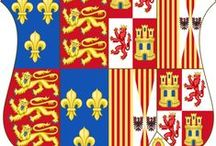 family: Habsburgs/Castile & Aragon  / The family of Ferdinand and Isabella, which for lack of male heirs descended through the marriage of their daughter Juana to Philip the Fair, son of Maximilian I and Mary of Burgundy,to the Habsburgs. / by Edie Engel