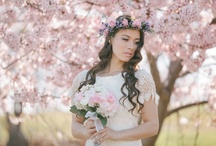 Spring Bridal Inspiration / I wanted to create some bridal looks perfect for the spring. All photography by me: Jennifer Fujikawa Photography. Makeup/hair/floral design by Blooming Beauty By Cammy, dresses by Marisol Aparicio and our beautiful model is Anne Miles.
