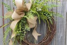 Wreath ideas for donation / by Brittany Hendricks