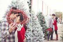 Engagement: Yuko + Michael { Christmas Themed } / Bringing in some holiday cheer with Michael and Yuko's lovely Christmas themed engagement session!