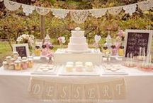 Wedding Cake Table / The decor of a wedding cake table is important for wedding pictures and it sets a mood of attraction while your guests anxiously wait for the moment of indulgence. Nothing is more tempting than sweets, let's entice the senses with style.