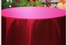 Duchess Table Linens / Duchess is an excellent tablecloth that has the luster of satin with the easy care and durability of woven Poly Poplin Polyester. Very popular linen for tablecloths and overlays. A favorite for brides, upscale hotels, resorts, country clubs and party rentals.