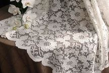 Lace / Lace Tablecloths, Overlays, Table Runners even adorable little Lace Party Favor Bags. Lace offers a classic and timeless feel to any party, wedding or event.  http://premiertablelinens.com/default/lace-tablecloths
