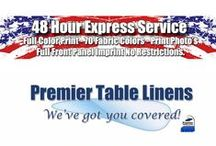 48 Hour High-Quality Rush Printed Table Covers. / Are you rushing around to find durable custom table covers and linens for an upcoming trade show or event? Don't worry! Place a rush order with Premier Table Linens
