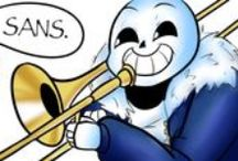 Sans the Skeleton / Sans is a skeleton who lives with his brother Papyrus. He is lazy and likes to make puns every now and then. If you are not determined enough and you are scrolling this wall, you are going to have a bad time.