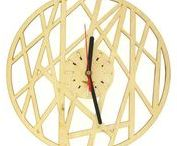 WOODEN CLOCKS NATURAL WOOD AND GEOMETRIC SHAPES / A perfect choice for children's room as well as for living room or kitchen. They also make a great gift for relatives or friends who appreciate originality.  Birthday, wedding, anniversary or other occasion (it matters not) – our clocks will always make a perfect gift because we put our very hearts in making them. One can choose from a really large selection, from categories like movie themes, cities, games, characters, fairy tales, modern clocks, etc.