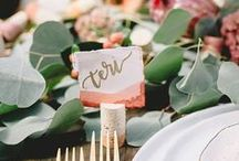 Place names + Table Numbers / Inspiration for your wedding tables