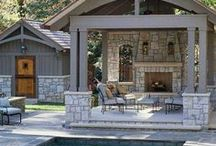 Outdoor Wood Patio Furniture / Outdoor wood patio furniture ideas that I scoured for. Hope you enjoy them!