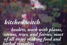 Kitchen Witchery / Kitchen witches are also called hearth witches or cottage witches. They have a gift with food, and much Magick comes from their kitchen. They are natural crafters of potions, herbal remedies, and protection for the home.
