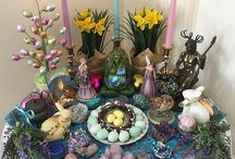 Sabbat 4 - Spring Equinox (Ostara) / Seasonal ideas for ritual, craft activities or simply connecting with the season of Spring. Celebrate the Sabbat of Ostara and mark the turning of the Pagan Wheel of the Year.