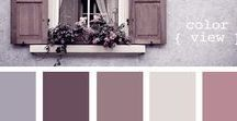 Mauve Wedding Inspiration / A variety of purple and grey tones and how to pair them for your wedding scheme.