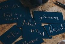 Navy and Copper - A Regal Affair / Elegant and Royal - no better way to describe this colour scheme!