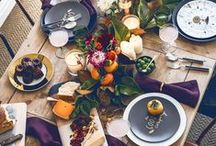 Fall Home Decor + Inspiration / Ideas and inspiration for decorating your home for Thanksgiving and the fall season.