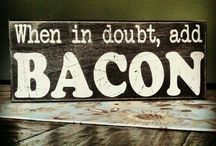 This girl loves BACON! / by Ashley Roger