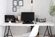 Home Office Inspiration / Ideas, tips and inspirations to create an inspired workplace.