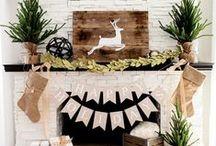 Holiday Home Decor / Design + decor inspiration to make your home festive for the holidays