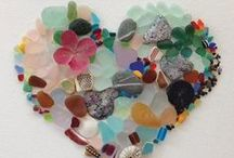 DRIFTWOOD, SEAGLASS & PEBBLE ART / by ♪♫♥ CHARITY CRAFTER ♪♫♥
