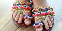 Sandálias handmade / Sandálias com detalhes diferenciados e base artesanal