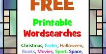Wordsearches / Free Printable Wordsearches on all sorts of topics, from movies to films and your favourite holidays! We love them. Would you like a word search on a particular topic? Let us know!