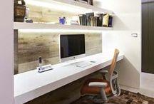 Interiors - Home Office Ideas / #homeoffice