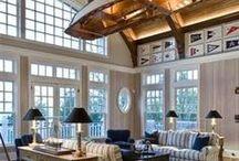Interiors - Beach Houses, Coastal & Nautical Ideas / #beachhouse