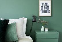 Interiors - Colors: Green Ideas / #green