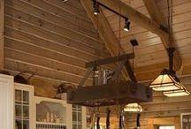 Interiors - Log Homes & Cabin Ideas / #loghomes