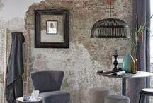 Interiors - Brick & Distressed Wall Ideas / #brick #distressed_wall
