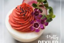 Pretty Deviled Eggs / Some people make deviled eggs - I make deviled treasures. They're a bit of a passion of mine.