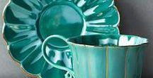Interiors - Stoneware & Porcelan Ideas / #stoneware #porzellaine #enamel #coffeecups #teacups